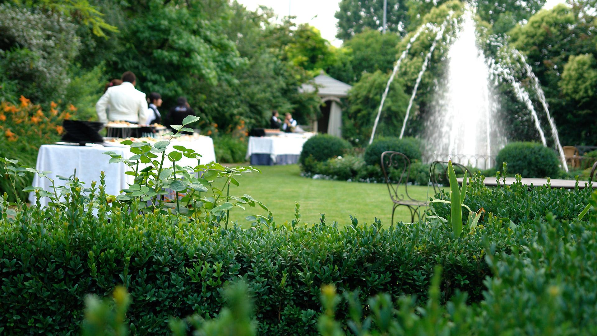 Giardino della fontana paghera green events - Organizzare il giardino ...